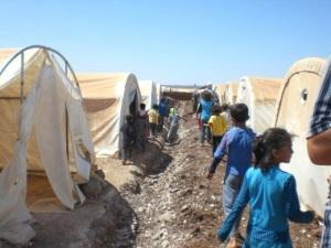 Siria, campo profughi Bab al Salam